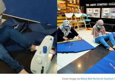 Netizen Terkejut Wanita OKU Ini Menjahit PPE Untuk Frontliners Hanya Menggunakan Kaki