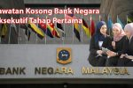 Jawatan Kosong Bank Negara Eksekutif Tahap Pertama