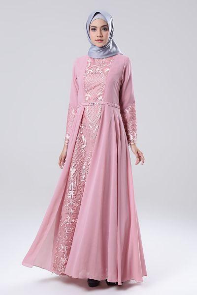 gaya tudung gaun