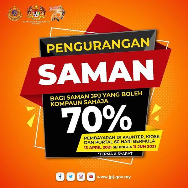 Semakan Saman Secara Online   PDRM, JPJ, AES